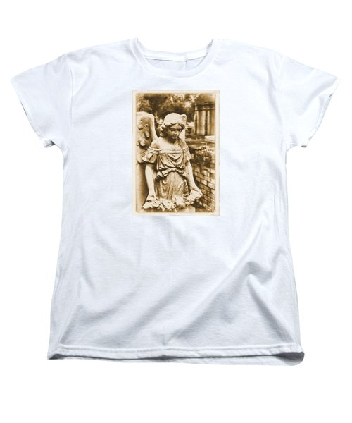 Women's T-Shirt (Standard Cut) featuring the photograph Blessed Angel   by Nadalyn Larsen