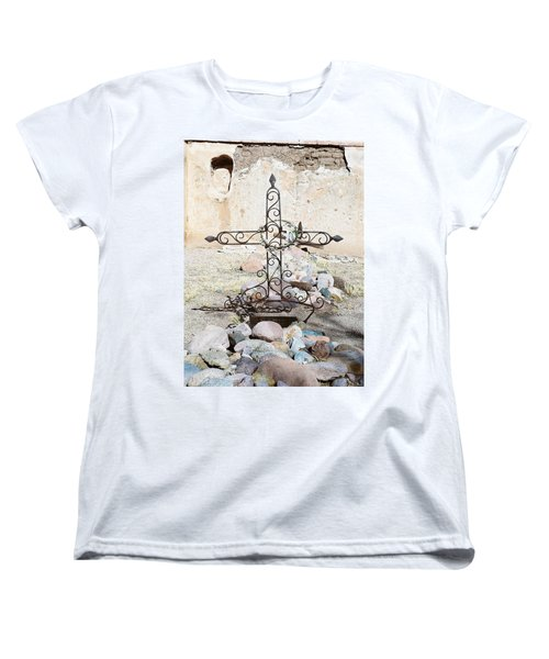 Women's T-Shirt (Standard Cut) featuring the photograph Old Gravestone Marker by Kerri Mortenson