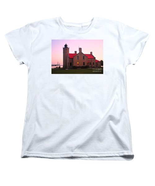 Women's T-Shirt (Standard Cut) featuring the photograph Old Mackinac Point Lighthouse by Terri Gostola