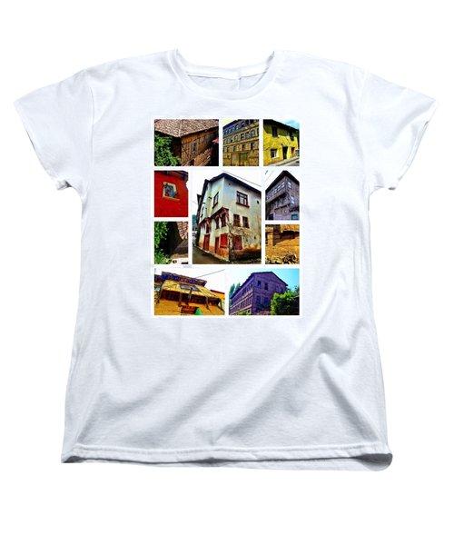 Old Turkish Houses Women's T-Shirt (Standard Cut) by Zafer Gurel