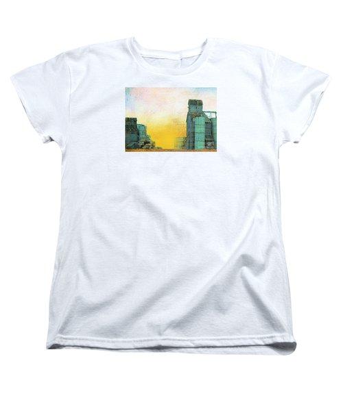 Old Used Grain Elevator Women's T-Shirt (Standard Cut) by Janette Boyd