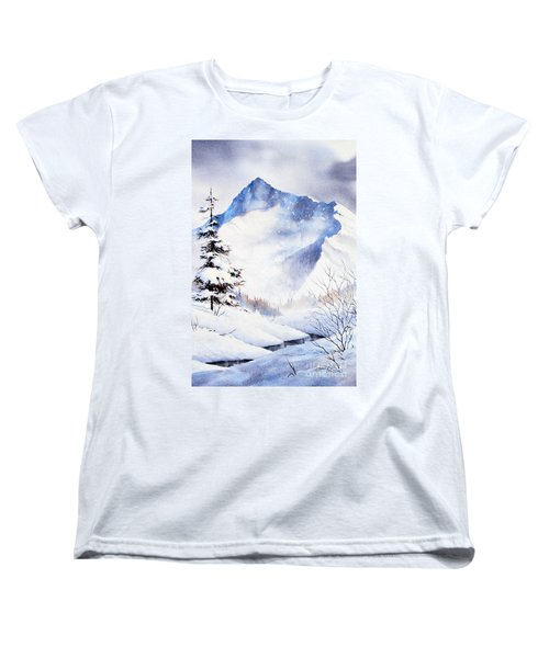 Women's T-Shirt (Standard Cut) featuring the painting O'malley Peak by Teresa Ascone