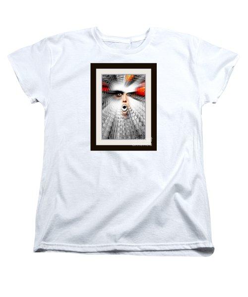 Women's T-Shirt (Standard Cut) featuring the painting OMG by Rafael Salazar