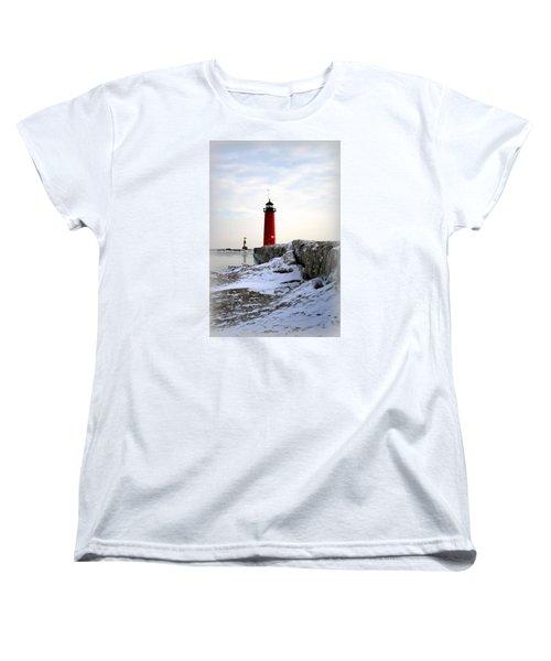 On A Cold Winter's Morning Women's T-Shirt (Standard Cut) by Kay Novy