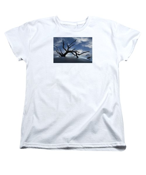 Women's T-Shirt (Standard Cut) featuring the photograph On A Misty Morning by Debra and Dave Vanderlaan