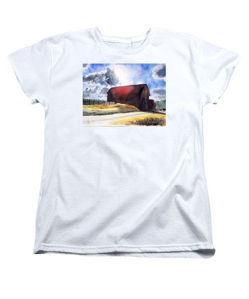 On The Macon Road. - Saline Michigan Women's T-Shirt (Standard Cut) by Yoshiko Mishina