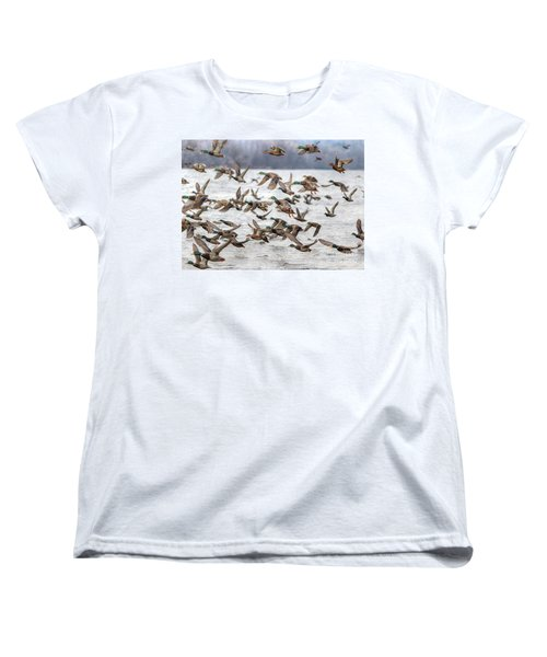 Women's T-Shirt (Standard Cut) featuring the photograph One Direction One by Robert Pearson