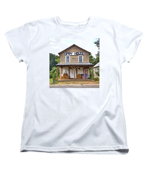 Women's T-Shirt (Standard Cut) featuring the photograph Opry House - Square by Gordon Elwell