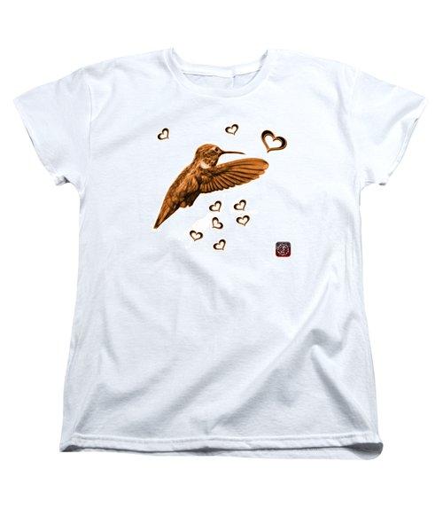 Orange Hummingbird - 2055 F S M Women's T-Shirt (Standard Cut) by James Ahn