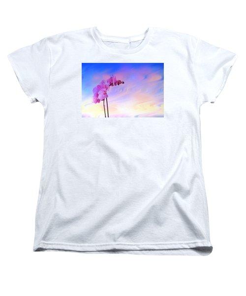 Orchid In Blue Women's T-Shirt (Standard Cut)