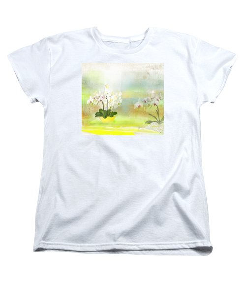 Orchids - Limited Edition 1 Of 10 Women's T-Shirt (Standard Cut) by Gabriela Delgado