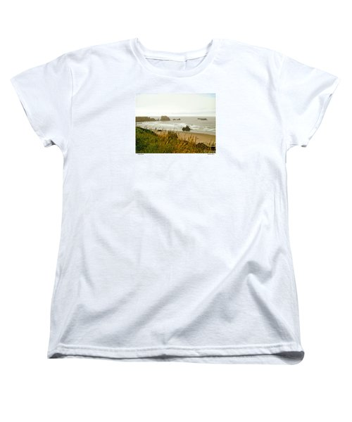 Women's T-Shirt (Standard Cut) featuring the digital art Oregon Beach by Kenneth De Tore