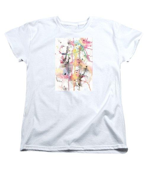 Women's T-Shirt (Standard Cut) featuring the painting Organic Clash by Rebecca Davis