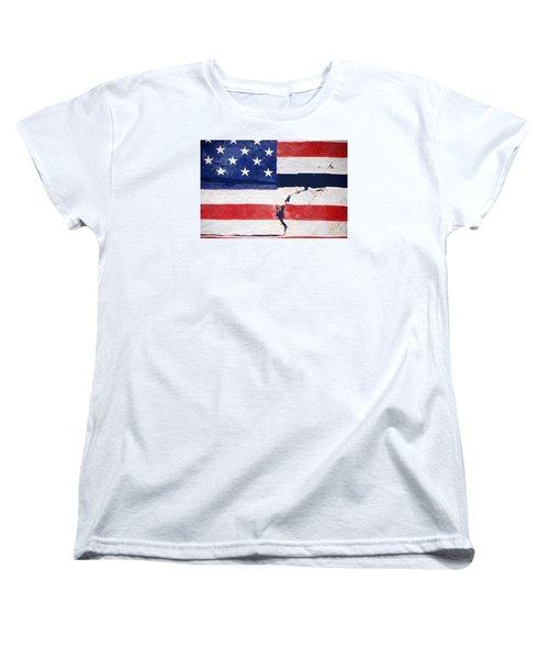 Women's T-Shirt (Standard Cut) featuring the photograph Out Of The Rubble  September 11 2001 by John Schneider