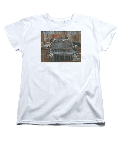Women's T-Shirt (Standard Cut) featuring the painting Outside Biglots by Donald Maier