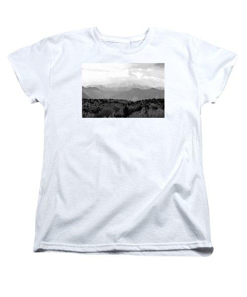 Over The Hills To Pikes Peak Women's T-Shirt (Standard Cut) by Clarice  Lakota
