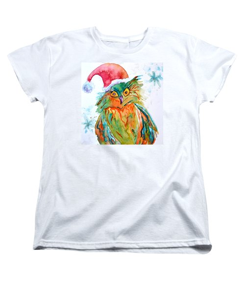 Women's T-Shirt (Standard Cut) featuring the painting Owlellujah by Beverley Harper Tinsley
