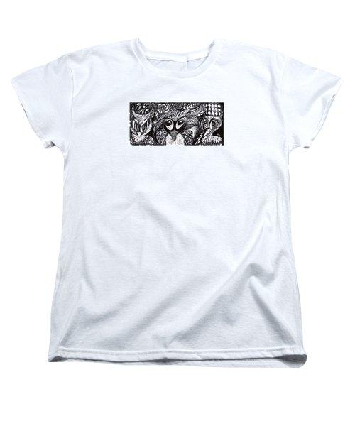 Owls Eyes Women's T-Shirt (Standard Cut) by Adria Trail