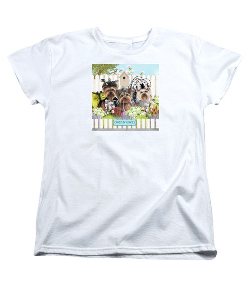 Owned By Yorkies II Women's T-Shirt (Standard Cut) by Catia Cho