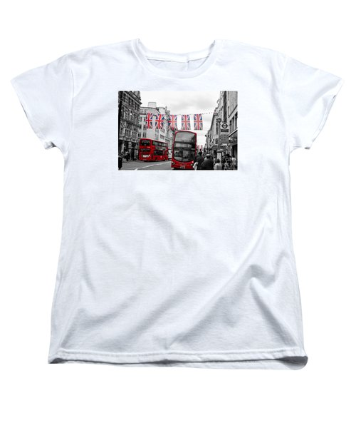 Women's T-Shirt (Standard Cut) featuring the photograph Oxford Street Flags by Matt Malloy