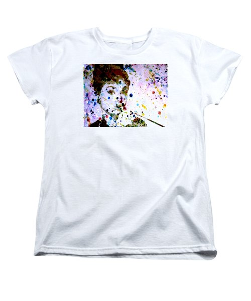 Women's T-Shirt (Standard Cut) featuring the digital art Paint Drops by Brian Reaves