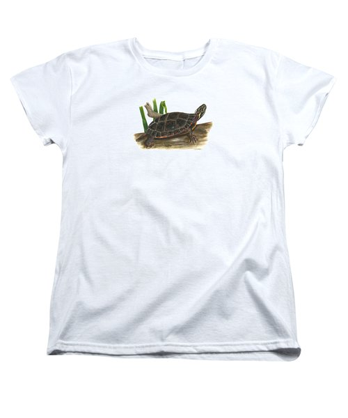 Painted Turtle Women's T-Shirt (Standard Cut) by Cindy Hitchcock