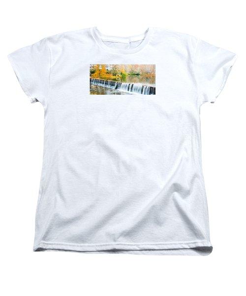 Panorama Of Buck Creek In Autumn Women's T-Shirt (Standard Cut) by Parker Cunningham