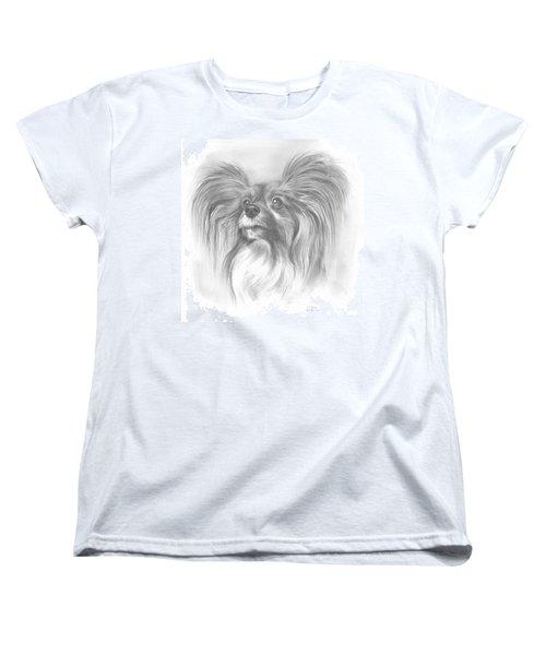 Women's T-Shirt (Standard Cut) featuring the drawing Papillon by Paul Davenport