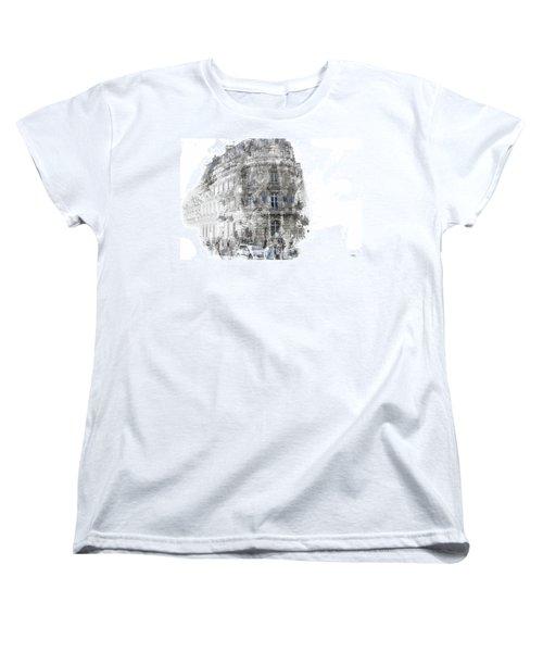 Paris With Flags Women's T-Shirt (Standard Cut) by Evie Carrier