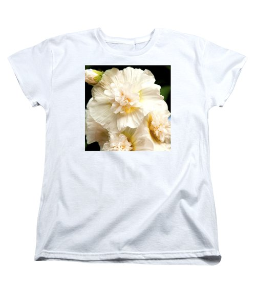 Women's T-Shirt (Standard Cut) featuring the photograph Pastel Delphinium by Jerry Cowart