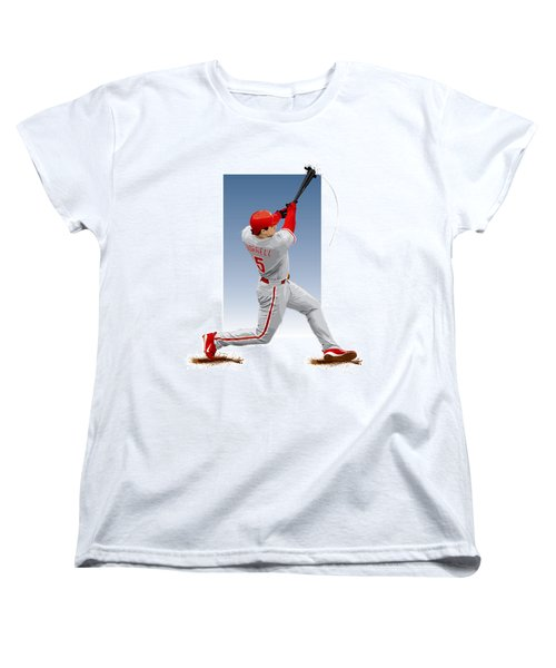 Pat The Bat Burrell Women's T-Shirt (Standard Cut) by Scott Weigner