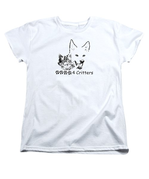 Women's T-Shirt (Standard Cut) featuring the photograph Paws4critters by Robyn Stacey