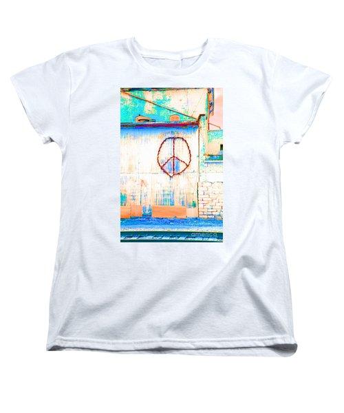 Women's T-Shirt (Standard Cut) featuring the photograph Peace 1 by Minnie Lippiatt