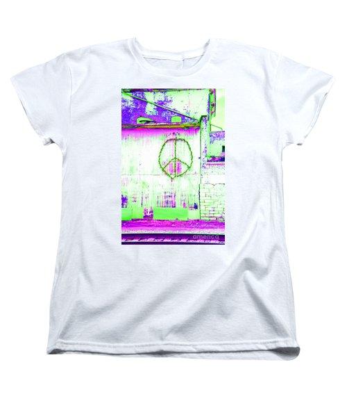 Women's T-Shirt (Standard Cut) featuring the photograph Peace 2 by Minnie Lippiatt