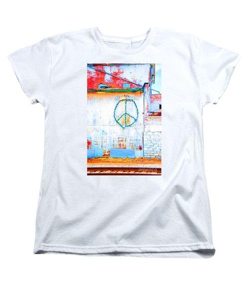 Women's T-Shirt (Standard Cut) featuring the photograph Peace 3 by Minnie Lippiatt