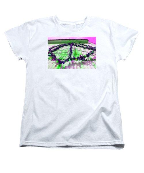 Women's T-Shirt (Standard Cut) featuring the photograph Peace Lights 1 by Minnie Lippiatt