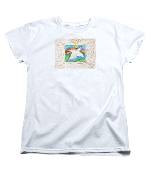 Women's T-Shirt (Standard Cut) featuring the painting Peace Of Heaven by Cassie Sears