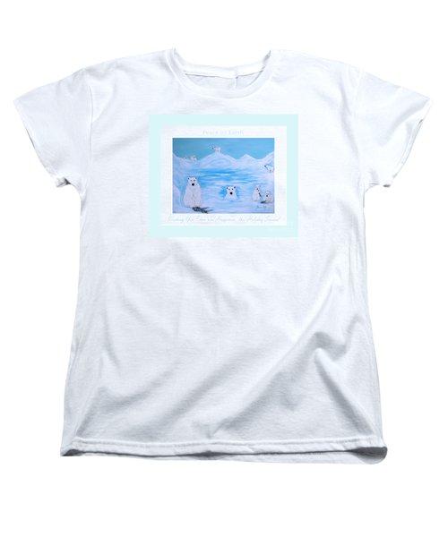 Peace On Earth Women's T-Shirt (Standard Cut) by Oksana Semenchenko