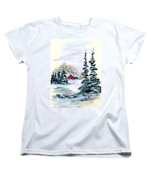 Peaceful Winter Women's T-Shirt (Standard Cut) by Dorothy Maier
