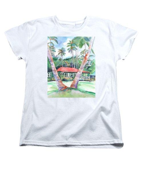 Peeking Between The Palm Trees 2 Women's T-Shirt (Standard Cut)