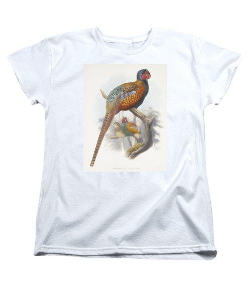 Phasianus Elegans Elegant Pheasant Women's T-Shirt (Standard Cut) by Daniel Girard Elliot