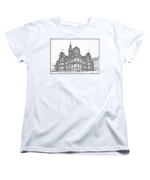 Philadelphia City Hall 1911 Women's T-Shirt (Standard Cut) by Ira Shander