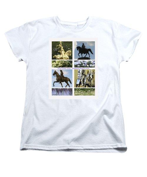 Women's T-Shirt (Standard Cut) featuring the photograph Philadelphia Museum Of Art by Mary Ann Leitch
