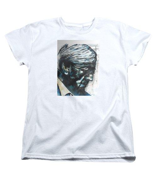 Philospher Jiddu Krishnamurti Women's T-Shirt (Standard Cut) by Chrisann Ellis