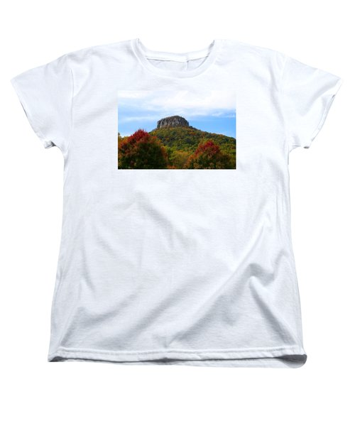 Pilot Mountain From 52 Women's T-Shirt (Standard Cut) by Kathryn Meyer
