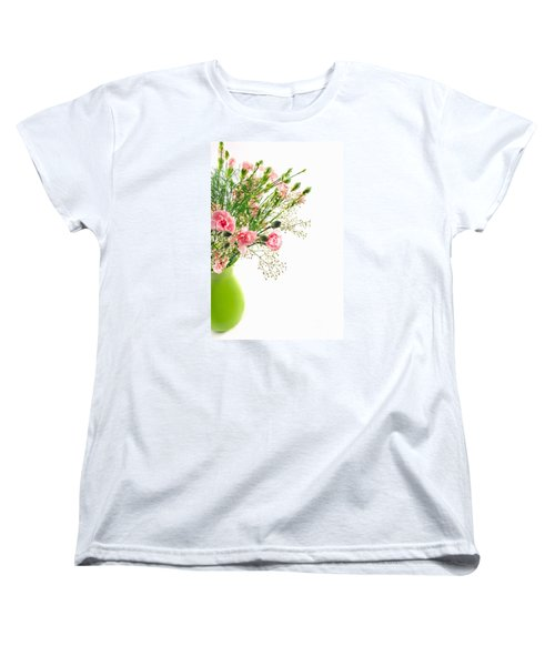 Pink Carnation Flowers Women's T-Shirt (Standard Cut) by Vizual Studio