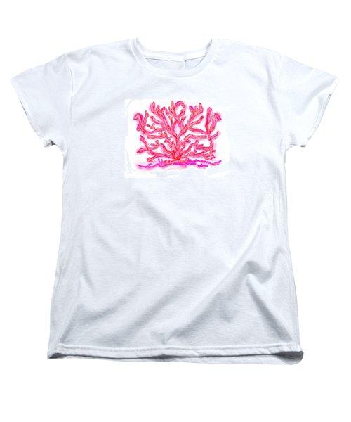 Women's T-Shirt (Standard Cut) featuring the digital art Pink Coral by Christine Fournier