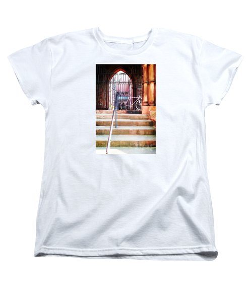Pink Goes To Church Women's T-Shirt (Standard Cut) by Joseph J Stevens