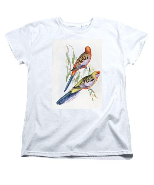 Platycercus Adelaidae From The Birds Of Australia Women's T-Shirt (Standard Cut) by John Gould