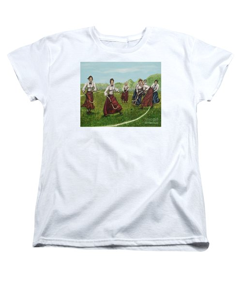 Play Of Yesterday Women's T-Shirt (Standard Cut) by Linda Simon